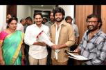 Auto Rajini movie team takes blessings from AP CM YS Jagan