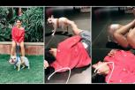 Samantha Akkineni playing with her pet dog