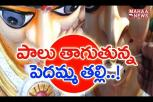 Durga Idol Drinking Milk In West Godavari