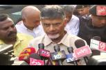 Chandrababu before media after visiting Ex MP Siva Prasad in Apollo hospital, Chennai