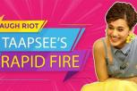 Tapsee's Hilarious Rapid Fire - Entertainment at its best - Mission Mangal