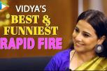 Vidya Balan: 'I've had CRUSH on SRK' - Most Hilarious Rapid Fire - Mission Mangal