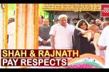Amit Shah and Rajnath Singh pay last respects to Sushma Swaraj