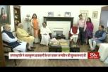 Vice President M Venkaiah Naidu visits LK Advani on his 92nd birthday