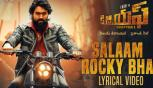 Salaam Rocky Bhai Song With Lyrics, KGF Chapter 1 Telugu Movie, Yash, Srinidhi Shetty