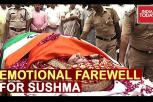 Leaders bid emotional farewell to Sushma Swaraj at BJP HQ