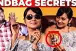 Naadodigal Actress Shanthini Handbag Secrets Revealed by VJ Ashiq | What's Inside the Handbag
