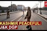 Zero violence in Kashmir valley after Abrogation of Article 370 says J&K DGP