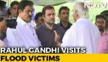 Rahul Gandhi visits flood-hit constituency Wayanad, seeks Aid from state