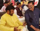 Balakrishna and Venkatesh shares a moment with Chiranjeevi at 'Sye Raa Narasimha Reddy movie success party