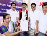DMK candidate, Saravanan files nomination papers for Tirupparankundram bypoll