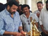 Mohanlal graces 'Big Brother' puja, song recording functions