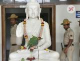 Bangalore University has finally solved the Saraswathi Vs Buddha statue issue