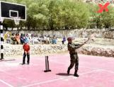 Viral: Dhoni plays cricket with kids in Leh
