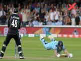 World Cup final overthrow in September 2019, involving Ben Stokes, Martin Guptill