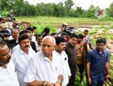 Karnataka CM BSY visits Shivamogga district for relief works