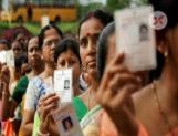 In Karnataka two Assembly by-elections registered a record polling of 75.8 per cent
