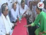 Former CM Siddaramaiah misbehaves with woman in Mysore