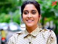 Regina Cassandra photos from sets of her new film with Karthik Subbaraju
