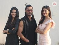Vidyut Jammwal, Asha Bhat & Pooja Sawant during the promotions of thier film Junglee