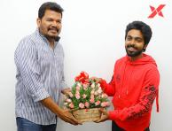 Director Shankar Unveiling the First Look of Sivappu Manjal Pachai