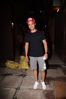Ayush Sharma spotted at gym in juhu