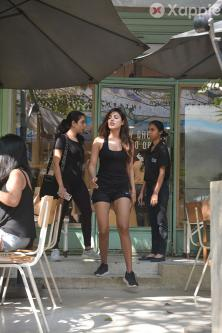 Rhea Chakraborty spotted at Kitchen Garden Bandra - Latest photos Gallery