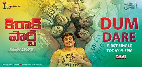 Kirrak Party Movie First Song Release Posters