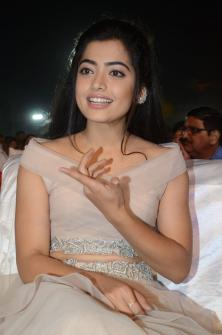 Actress Rashmika Mandanna at Chalo Movie Pre Release Event