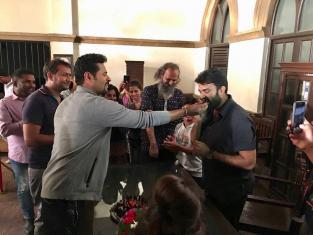 Prabhu Deva gets Awestruck over Lakshmi producers Beautiful gift