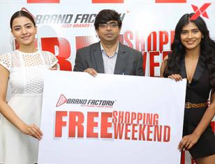 Hebah Patel & Actress Rukshar Dhillon exclusive photos at Brand Factory promotions
