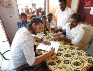 Actor Gautham Karthik at orphanage on a special occasion - Photos