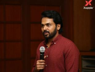 Karthi at Kaithi movie successmeet - Photos