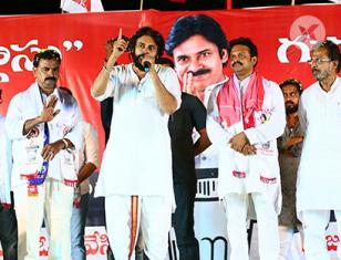Jana Sena Chief Pawan Kalyan at Machilipatnam, Bantumilli, Kaikaluru & Avanigadda Election Campaign Photos