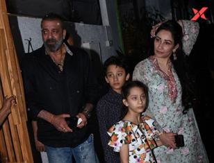 Sanjay Dutt & family spotted at Izumi Bandra - Photos