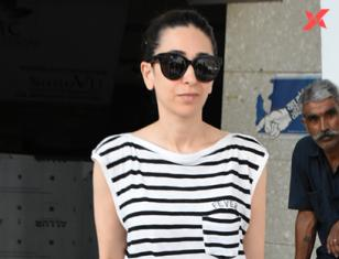 Karishma Kapoor spotted at Clinic in Bandra