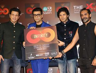 Launch of Amaan & Amaan Ali Bangash Music Album Infinity with Karan Johar, Abhishek Bachchan