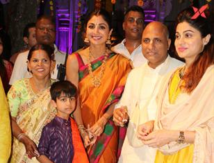 Shilpa Shetty & family spotted at Iskon Juhu for the Ramnavami Celebrations
