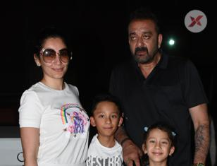 Sanjay Dutt, with his family spotted post dinner in Bandra
