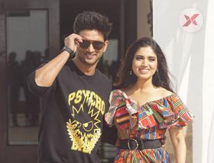 Sushant Singh Rajput and Bhumi Pednekar spotted at interview of Sonchiraiya
