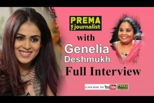 Actress Genelia with Prema -Interview