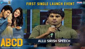 Allu Sirish Speech at ABCD First Single Launch Event
