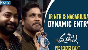Jr NTR & Nagarjuna Dynamic Entry at Mr Majnu Pre Release Event