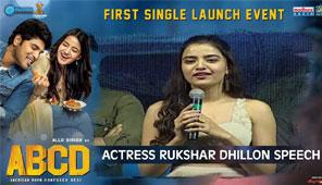 Actress Rukshar Dhillon Speech at ABCD First Single Launch Event