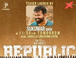 Sukumar to launch Sai Dharam Tej's Republic movie teaser
