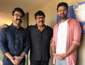 Pic Talk: Megastar Chiranjeevi, Ram Charan and Prabhas show is what real star power is like