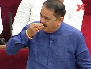 MLA flying kiss to Speaker