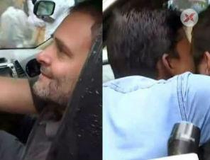 Viral: Man forcefully kisses Rahul Gandhi during his visit to Wayanad
