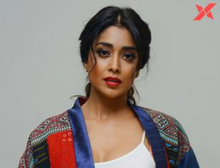 Indian Actress Shriya Saran latest photos from Rajavaru Ranigaru movie press meet