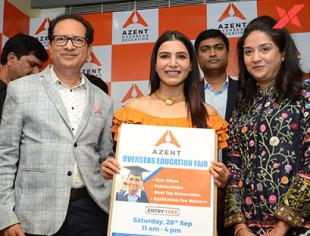 Samantha Akkineni launches AZent Overseas Education - Photos